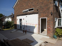 Foundation laying for single storey extension