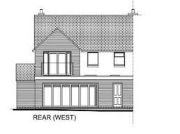 Architectural drawing of proposed rear extension
