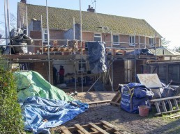 Breeze and brickwork for 2 storey extension in Milland
