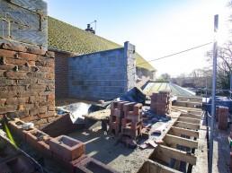 Construction progress at Flint & Dean project, Milland